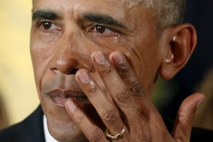 President Obama Tearing Up Talking About Mass Shootings