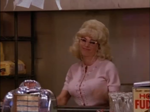 Monica Working at the Diner