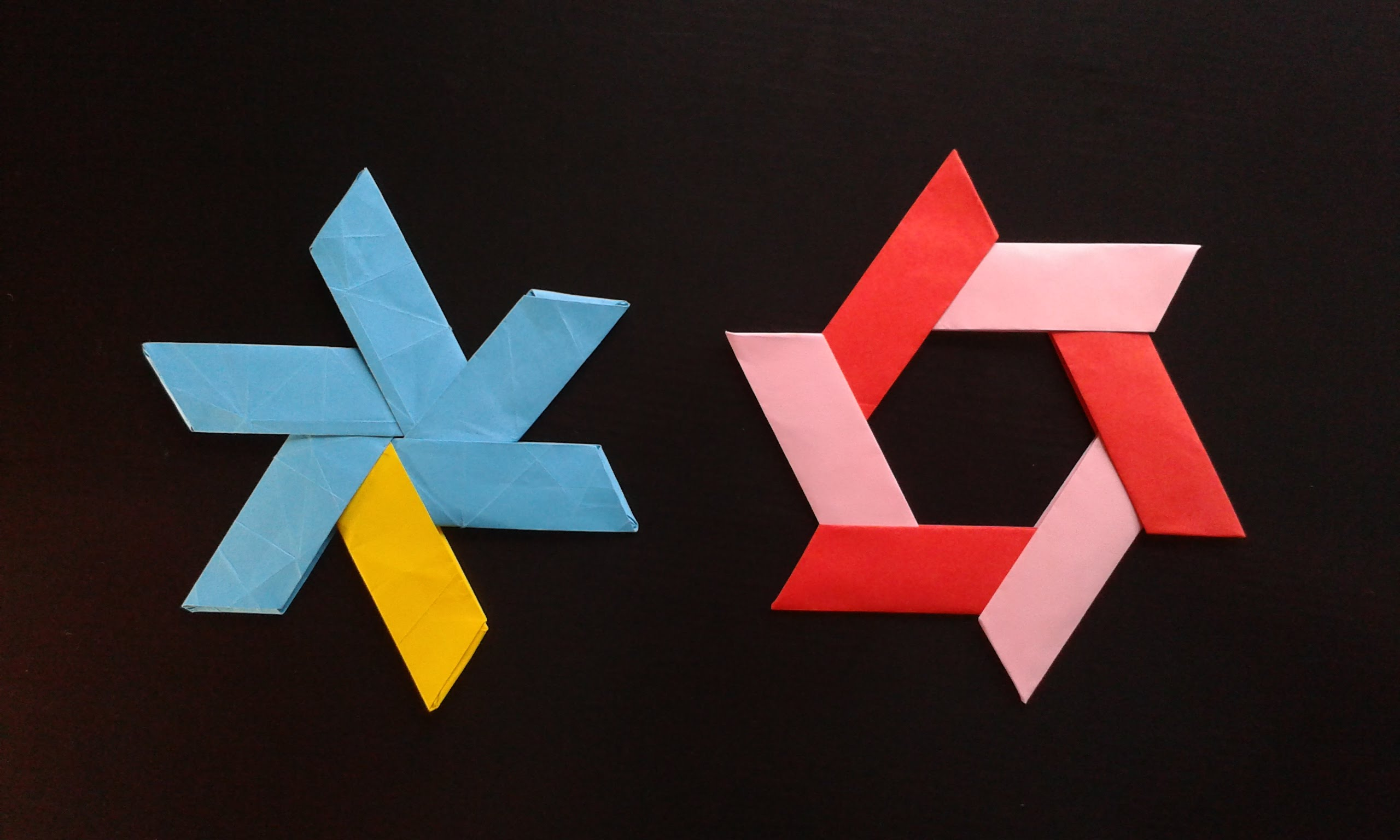 How To Make A Paper Star Boomerang